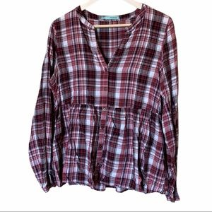 Maurices flannel babydoll fit size large